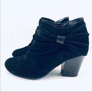Andrew Geller Guinivere Black Suede Ankle Boot